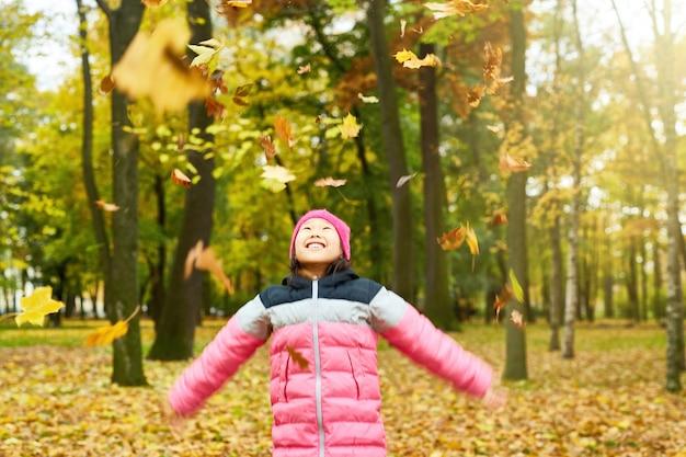 Enjoying fall in autumn Free Photo