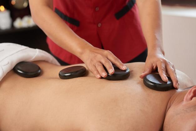 Enjoying spa procedure Free Photo