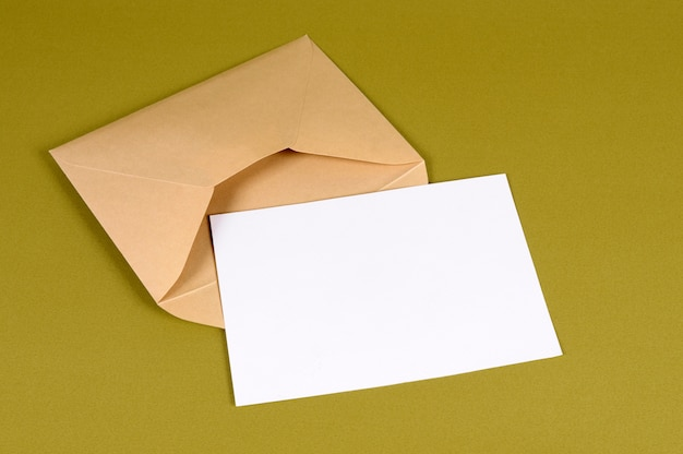 Envelope with blank letter Free Photo