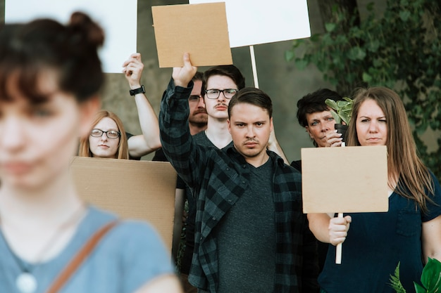 Environmentalists protesting for the environment Premium Photo