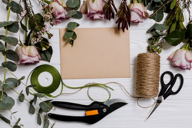 Equipment for floristry Free Photo