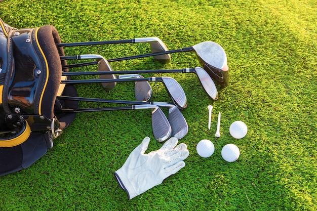 Equipment for playing golf. Premium Photo