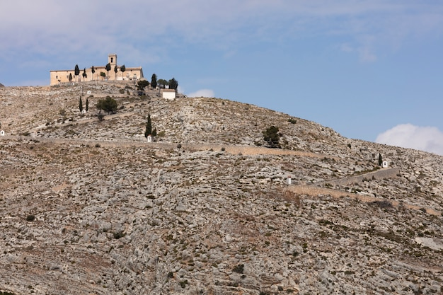 Ermitage on top og hill Premium Photo