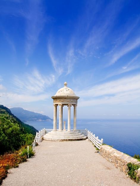 Es galliner gazebo in son marroig over majorca sea Photo