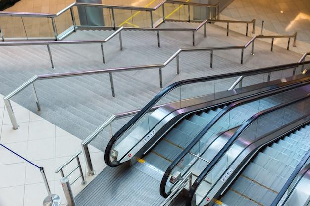 Escalator and stairs Premium Photo