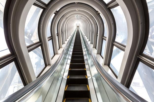 Escalators successful concept Premium Photo