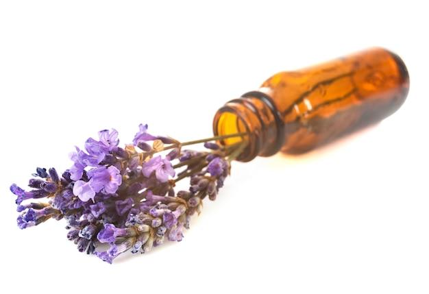 Essential oils of lavender Premium Photo