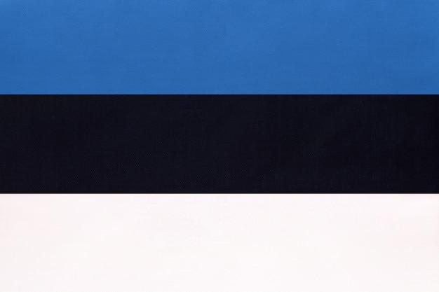 Estonia national fabric flag, symbol of international world european country. Premium Photo