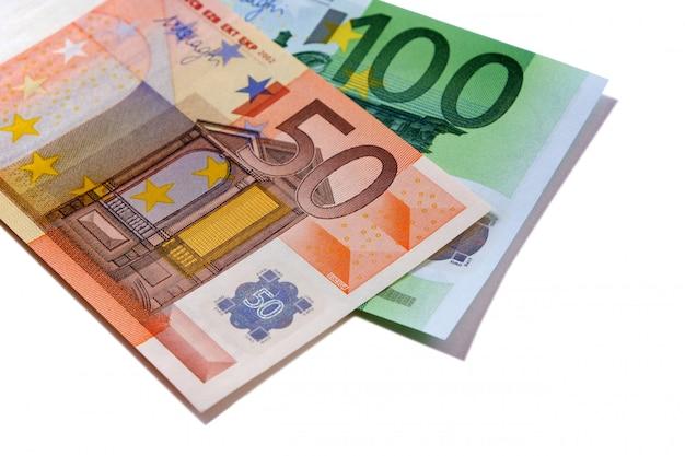 Euro 50 and 100 money bills Free Photo