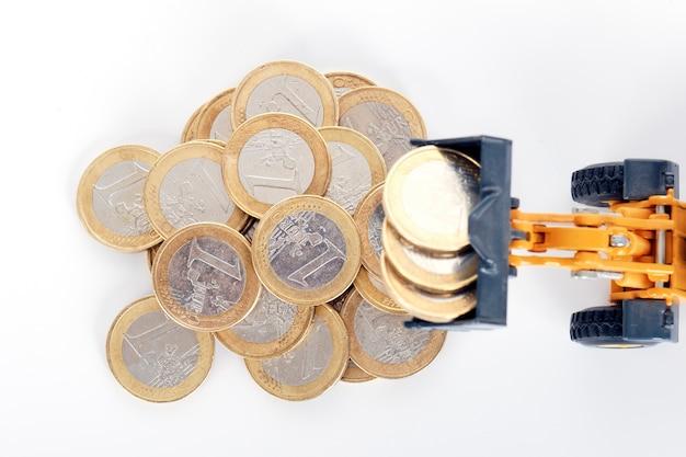 Монеты евро деньги и загрузчик Бесплатные Фотографии