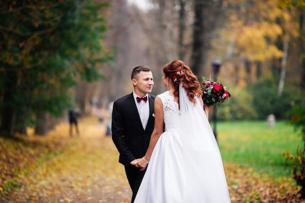 Premium Photo | European happy romantic couple celebrating their marriage