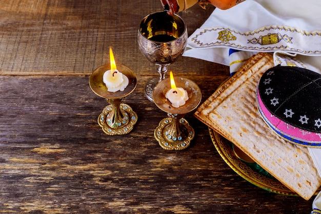 Eve passover holiday matzoth celebration matzoh jewish passover bread torah Premium Photo