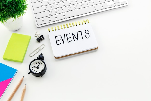 Event planning with copy space Premium Photo