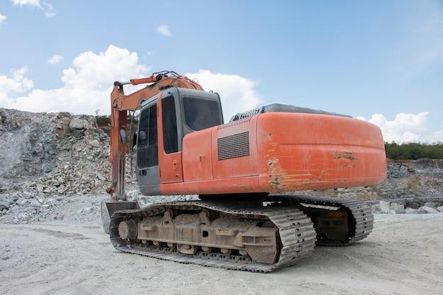 Excavators machine in construction site Premium Photo