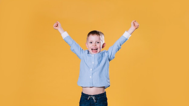 Excited little boy Free Photo