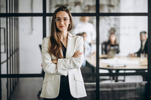 Executive business woman in an office Free Photo