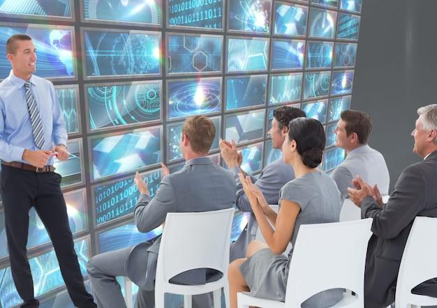 Executives woman coding staff tech Free Photo