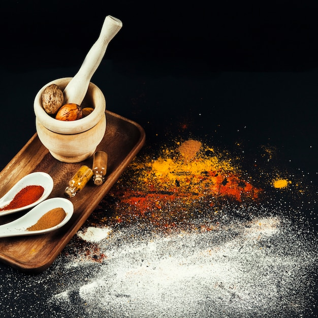 Exotic oriental spices Free Photo