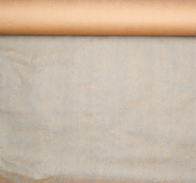 Expanded brown paper roll Premium Photo