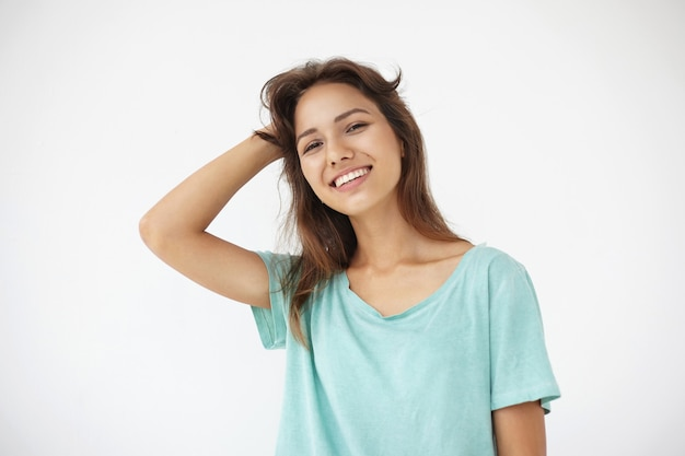 Expressive young woman posing Free Photo