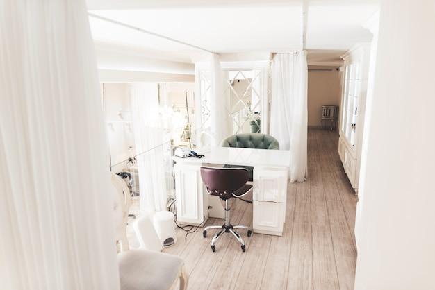 Exquisite beauty salon with a stylish interior. Premium Photo