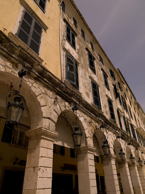 Exterior of building in corfu Premium Photo
