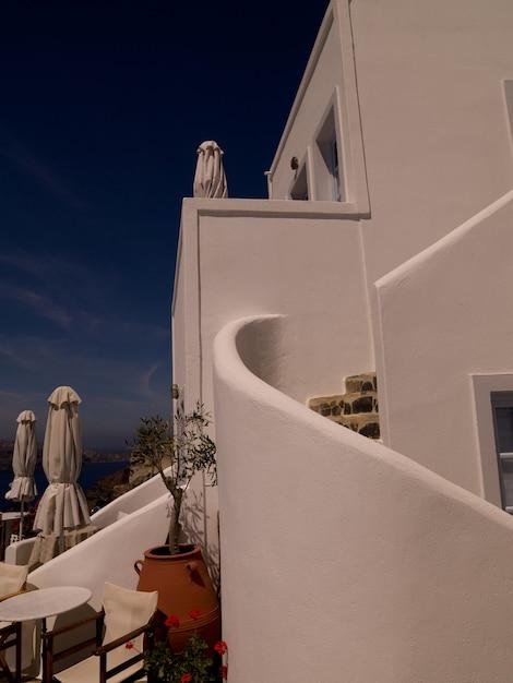 Exterior of a building in santorini greece Premium Photo
