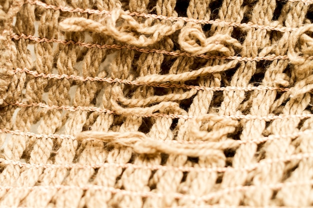 Extreme close-up hessian fabric material texture Free Photo