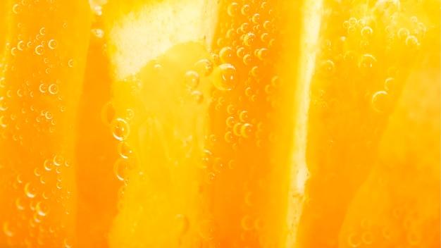 Extreme close-up orange fruit Free Photo