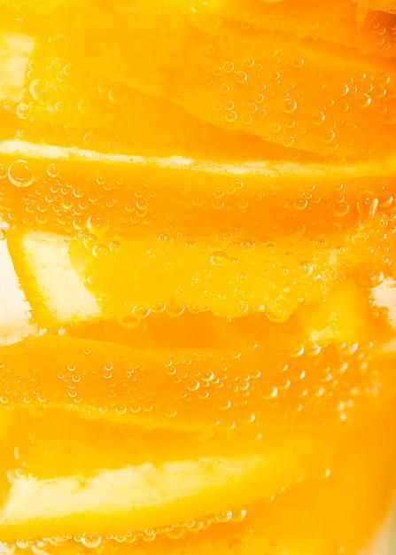 Extreme close-up pulp of orange Free Photo