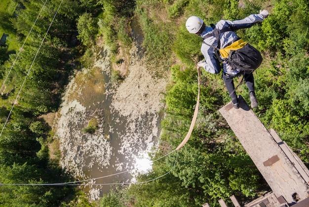 Extreme sports ropejumping Free Photo