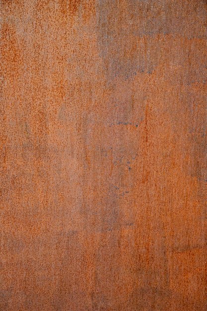 Extremely close-up rusty brown iron wall Free Photo