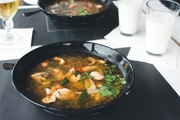 Extremely spicy thai soup Free Photo