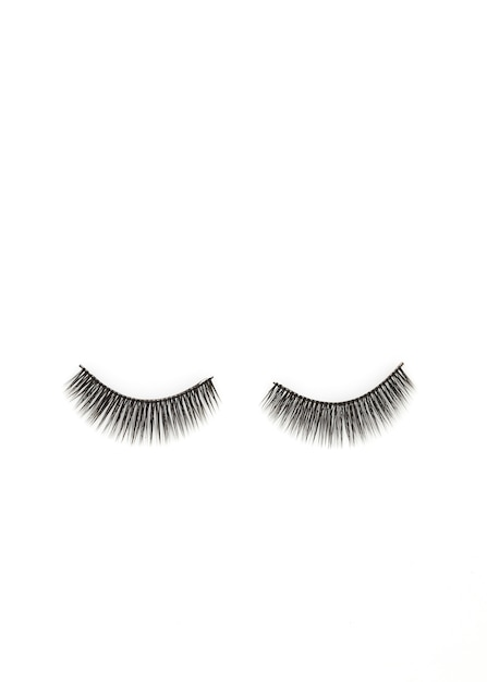 Eyelashes isolated on white Premium Photo