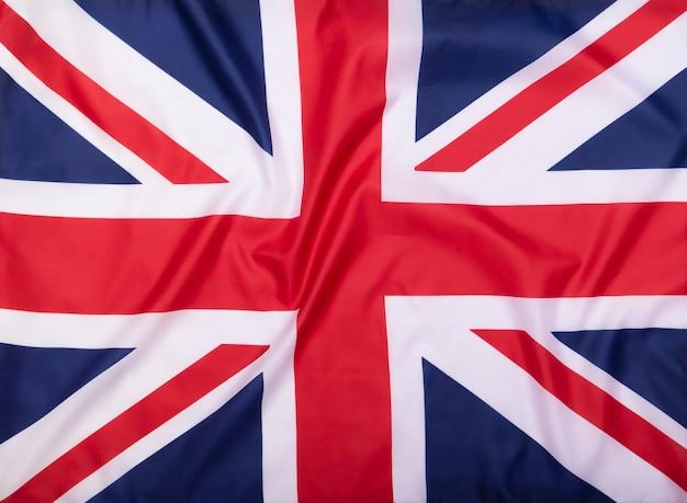 Флаг соединенного королевства в качестве фона или текстуры ткани Premium Фотографии
