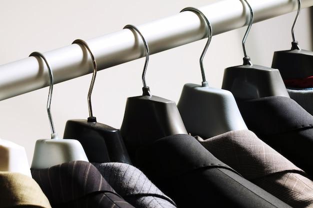 Fabric garment store modern attire Premium Photo