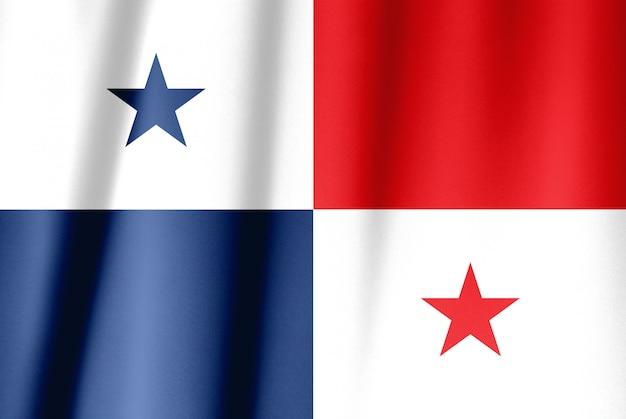 パナマの生地のテクスチャフラグ Premium写真