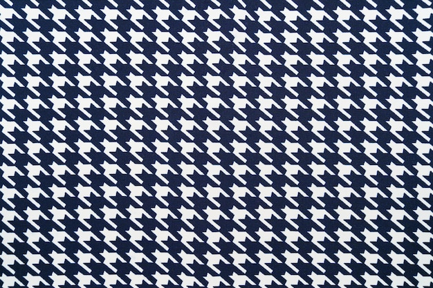 Fabric with goose foot pattern. cloth background Premium Photo