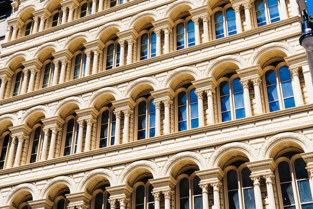 Facade of building with classical architecture Free Photo