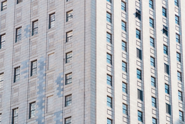 Facade of highrise apartment building Free Photo