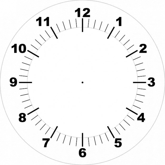 photo relating to Clock Template Printable known as Confront printable clock Image Absolutely free Obtain