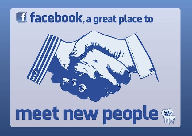 Facebook Shake Hands Vector