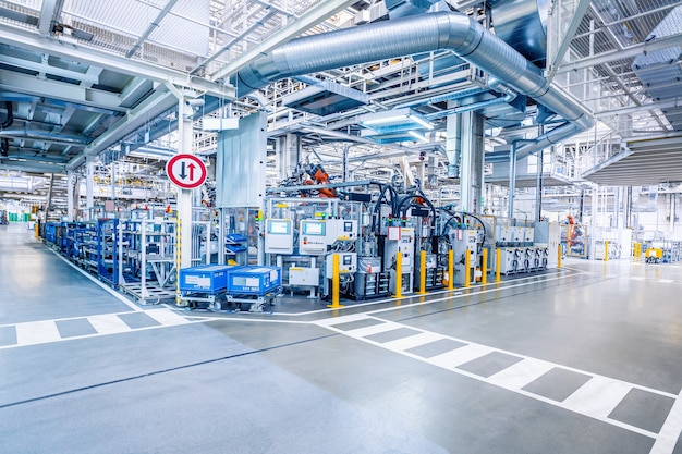 산업 컨셉으로 공장 내부 프리미엄 사진