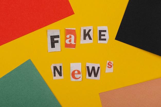 가짜 뉴스 개념 평평하다 무료 사진