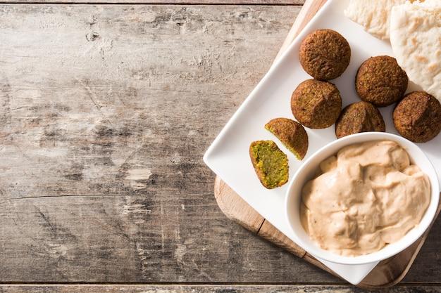 Falafel on a plate Premium Photo