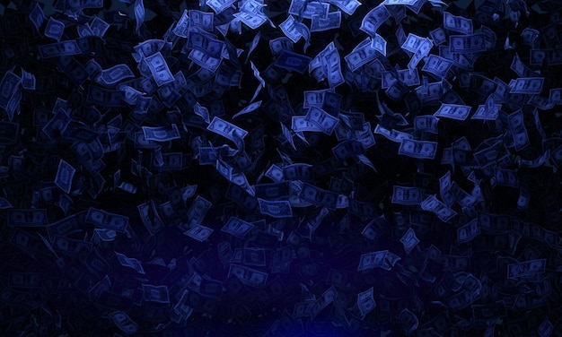 Falling banknotes concept Free Photo