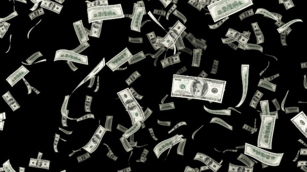 Falling hundred dollar onn alpha chanel Premium Photo
