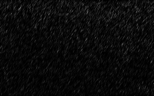 Falling raindrops isolated on dark background. Premium Photo