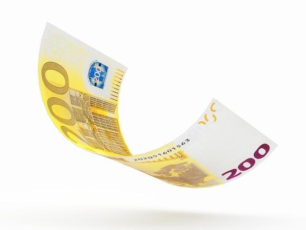 落ちる200ユーロ紙幣の落下 Premium写真