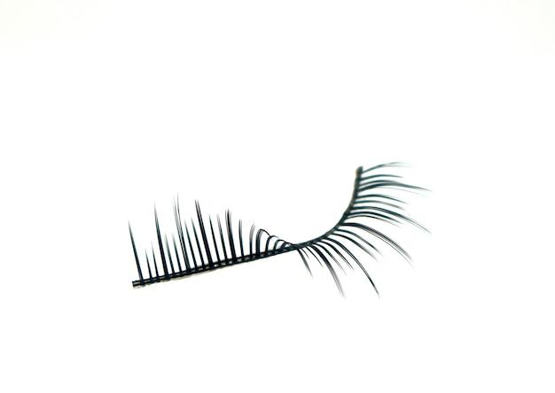 False eyelashes isolated Premium Photo